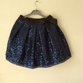 Girls Party Skirt. Sparkly sequins. Age 8-9 Years.
