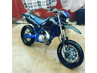 Dtx 125 sm excel wheels and tires and forks swap nobblies