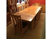 Complete solid oak dining room set!