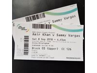 BARGAIN! Amir Khan VS Samuel Vargas x2 TICKETS!