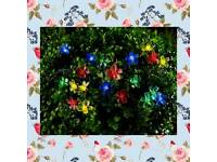 100 multicoloured blossom tree lights