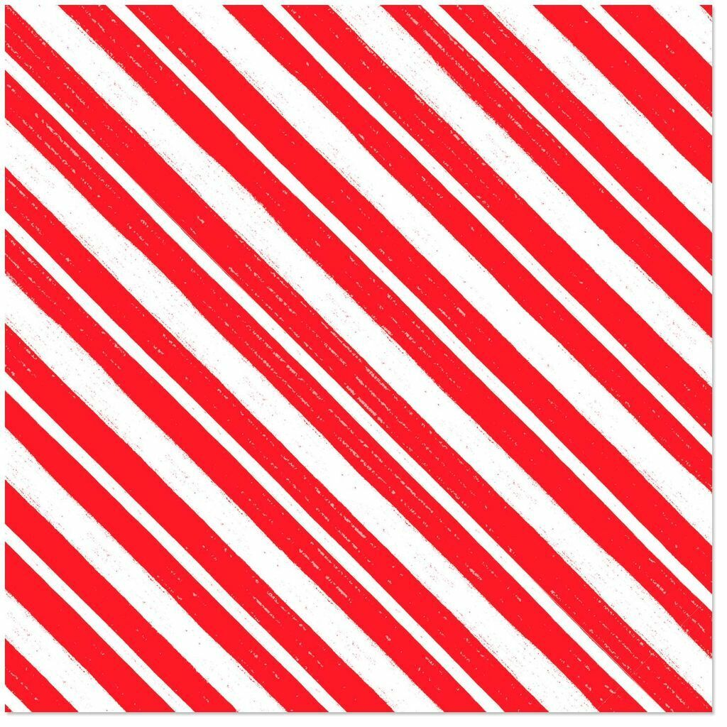 Hallmark Wrapping Paper Roll Christmas Candy Cane Stripe 45s