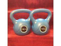 2 Kettlebell weights 7.5Kg