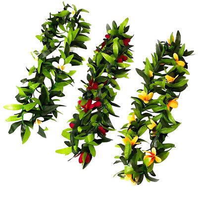 eaf Garland Luau Leis Halskette Tropische Party Blossom (Leis-halskette)