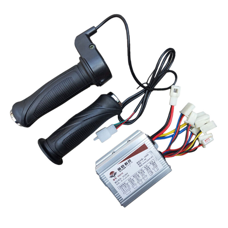 Brush Speed Controller Electric Scooter Motor with Keys Throttle #4 36V500W