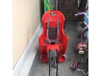 Children's bike seat in red