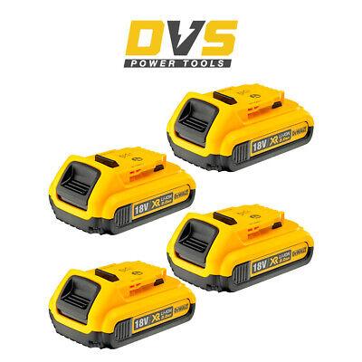 Dewalt 4 x DCB183 18V XR Slide 2.0AH LI-ION Battery Pack of...