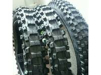 """Motocross tyres set 19"""" rear and 21"""" front"""