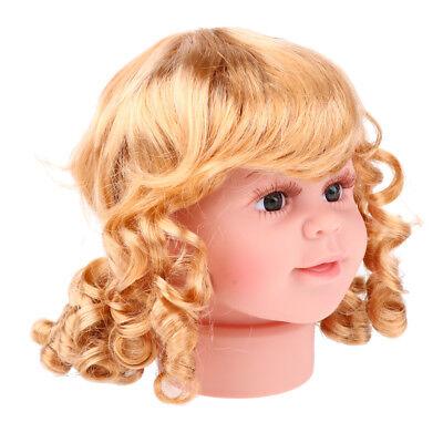 Children Head Model Girl Wig Show Hat Glasses Scarf Mannequin Display 15