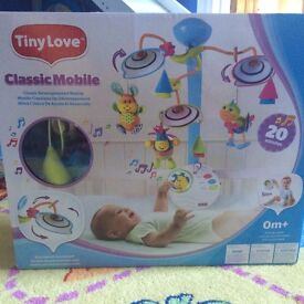 Tiny Love mobile musical baby for cot bed