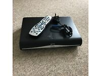 Sky HD+ box with power cable and remote