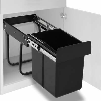 vidaXL Kitchen Cupboard Pull-out Recycled Dustbin Soft-Close Garbage Cans