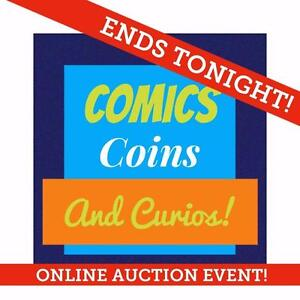 ENDS TONIGHT! Coins, Stamps, Rare Comics, Medals, Mint, First Day Covers, Diamonds, Gold, Rarities, Superman