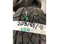 205/55/16 Dunlop SP winter part worn tyre tire