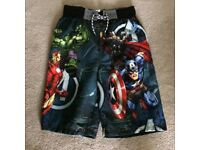 Marvel Super Hero Shorts Age 12yrs, 152cms