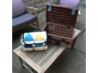 Picnic Rug and Basket Set