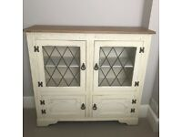 Excellent quality slim sideboard with glass