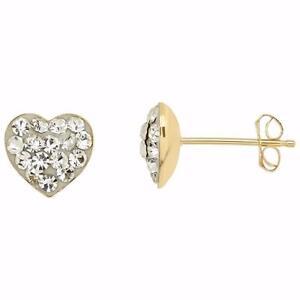Vintage 10K Yellow Gold Heart Stud Earrings