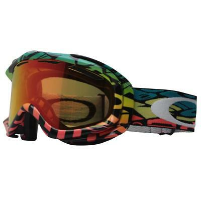 Oakley 57-055 Ambush Color Block Text Peyote Fire Lens Mens Snow Ski Goggles