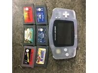 Gameboy Advance Clear Console + 6 Games