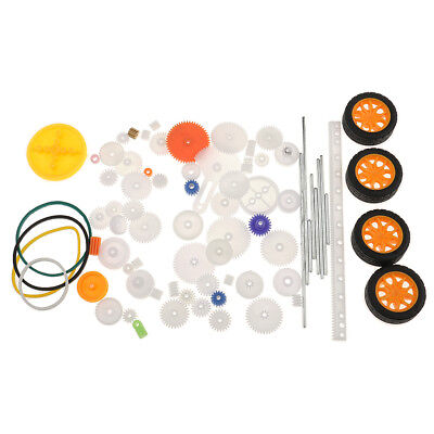 78 Types Plastic Assorted Gear Set For Model Crafts Accessories Kit Robet