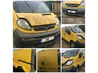 Vauxhall Vivaro SWB Yellow 2004 1.9 Diesel doors all parts available