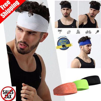 Hair Head Band Sweatband Headband Stretch Mens Wrap Elastic Sports Men Thin (Hair Band Head)