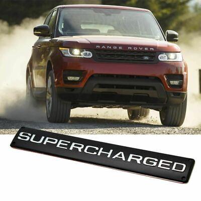 NEW Range Rover Land Rover Sport SUPERCHARGED Trunk Badge Emblem Black Alloy