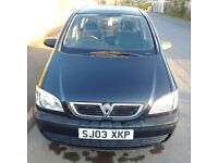 2003 Vauxhall Zafira Club, 1.6, Mileage - 67813, Manual 5 Speed, Petrol, AC, EW, MOT till April 2017