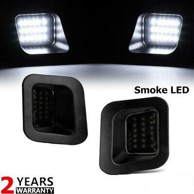 2x SMOKED LED Rear License Plate Lights LENS For 03-19 Dodge Ram 1500 2500 3500