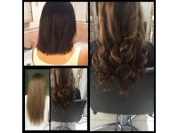 Nano rings/Russian hair extensions/Y-Tips. Mobile hair stylist get full head for less