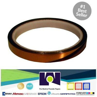Heat Resistant High Temperature Adhesive Tape Dye Sublimation Mug 6mm X 110ft