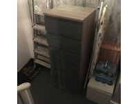 Nearly new Tallboy 6-drawer chest