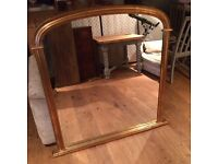Beautiful antique mantle mirror
