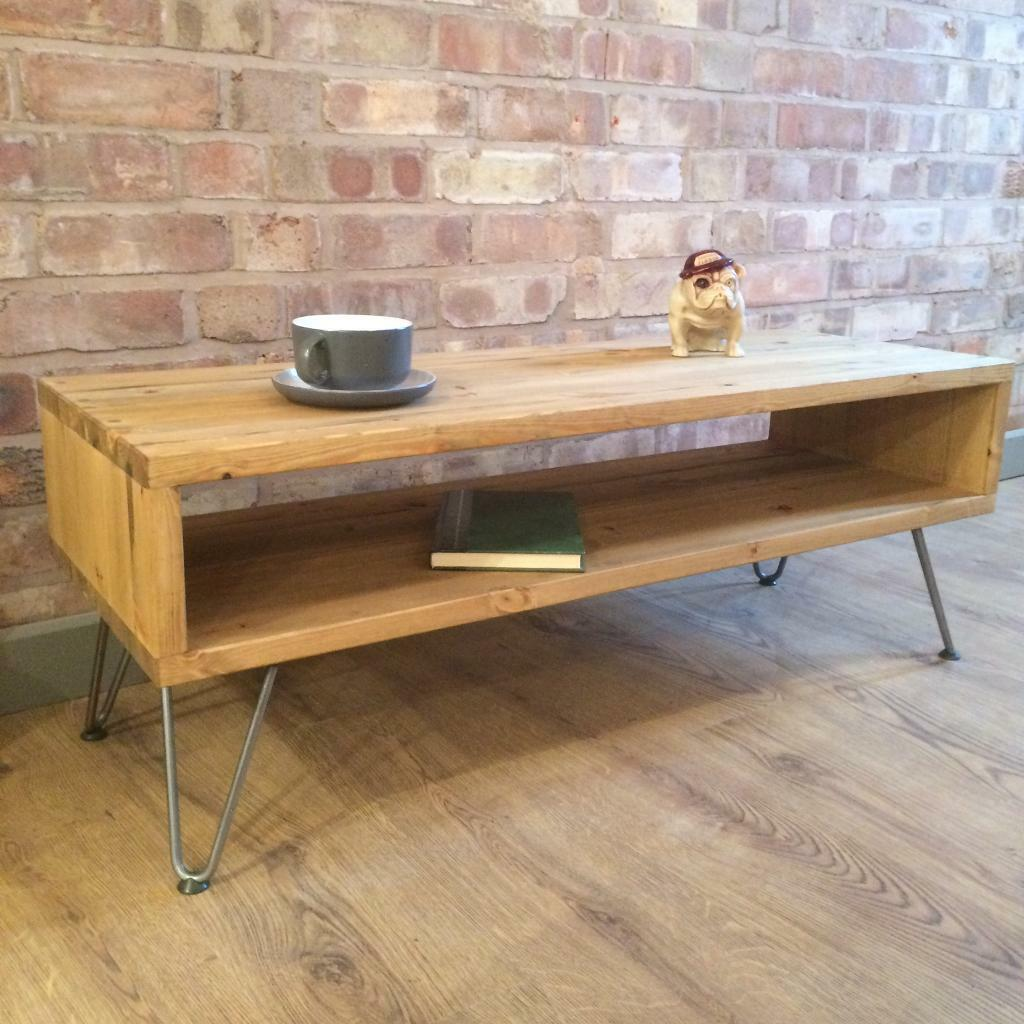 Rustic Industrial Style Vintage Retro Coffee Table / TV