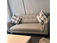 Beautiful & stylish grey 4 seater sofa
