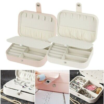 Jewelry Box Ring Earring Necklace Storage Case Travel Organizer Women Lady Gift.