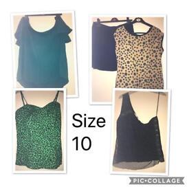 Size 10 women's clothes bundle x9 items £2.50!