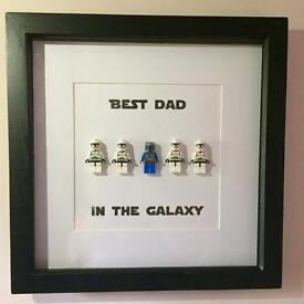 Lego inspired Star Wars picture frame Best Dad