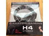 Raptor H4 Gaming Headset PC Xbox PS boxed