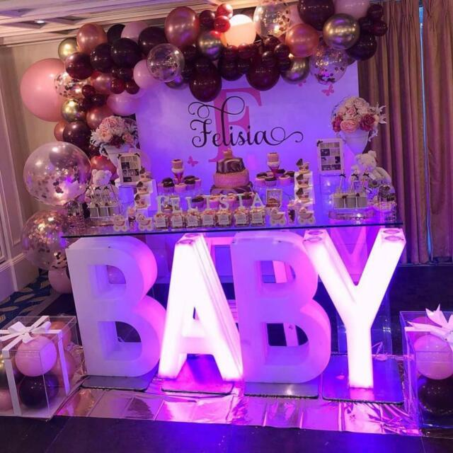 Wedding Love Letter Light Up Letter Table for Hire Baby
