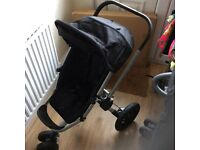 Job lot! Quinny Buzz with Quinny Footmuff, Black and rain cover + lascal maxi buggy board !!