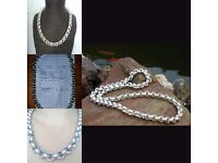 Silver Necklace beautiful belcher style