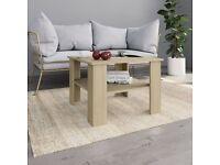Coffee Table Sonoma Oak 60x60x42 cm Chipboard-800210