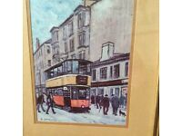 BETTY STIRLING FRAMED AND MOUNTED GLASGOW PRINTS £10 EACH