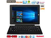 "BRAND NEW,4/64GB 10.1"" CHUWI Hi10 Windows10 Android 5.1 Tablet PC HDMI 2*Cameras +Keyboard"