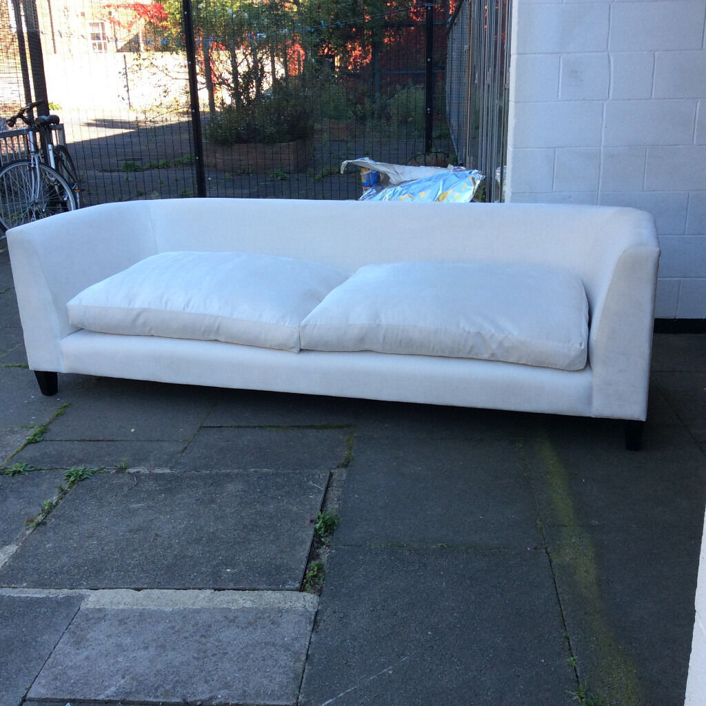 Nice and large sofa for sale . Very comfortable .White colour .