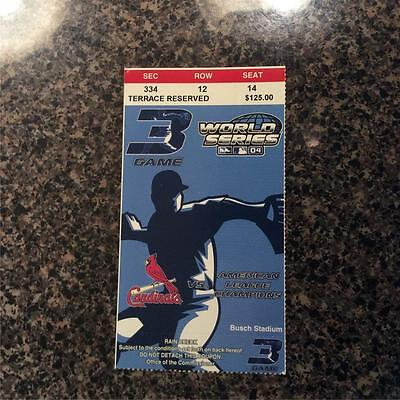 2004 Boston Red Sox World Series Ticket LAST RED Sox GAME PJ Martinez