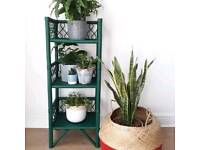 Wicker unit/plant stand