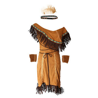 Woman  Indian Wild West Fancy Dress Up - Wild West Dress Up